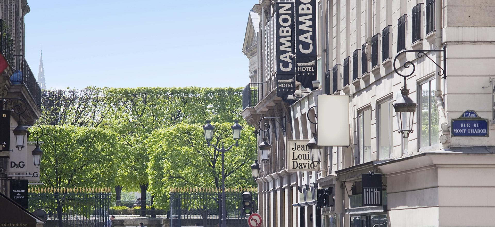 """Voir la page de l'établissement """"Hôtel Cambon"""""""